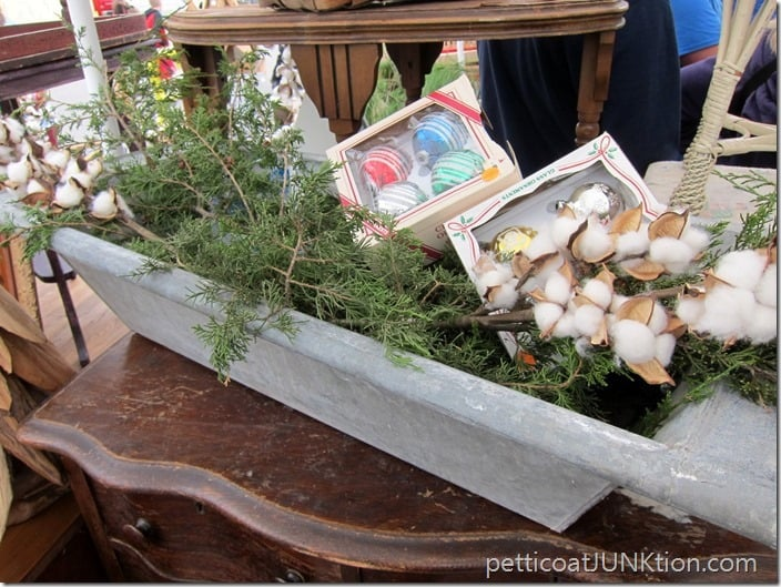 Christmas Greenery Nashville Flea Market Petticoat Junktion shopping trip