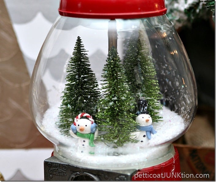 DIY Gumball Machine SnowGlobe Petticoat Junktion