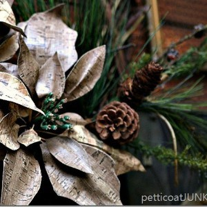 Poinsettia Grapevine Christmas Wreath Craft Project