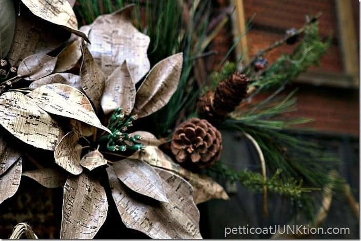 Poinsettia Grapevine Wreath Petticoat Junktion Old Time Pottery project 2