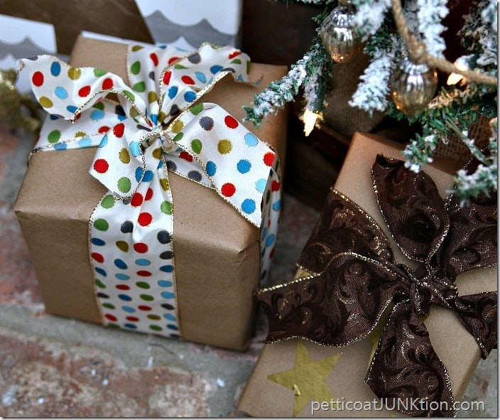 Pretty Gift Wrapped Christmas Presents Petticoat Junktion