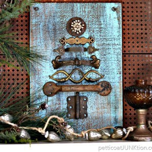 Sparkle And Rust Hardware Christmas Tree