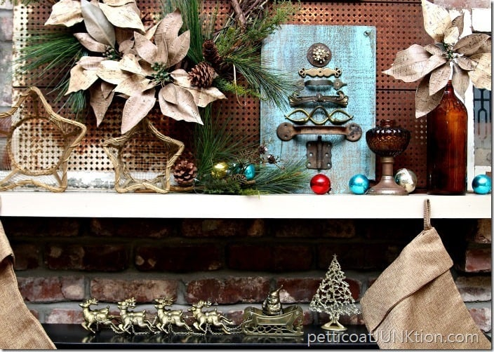 Turquoise mantel display Petticoat Junktion