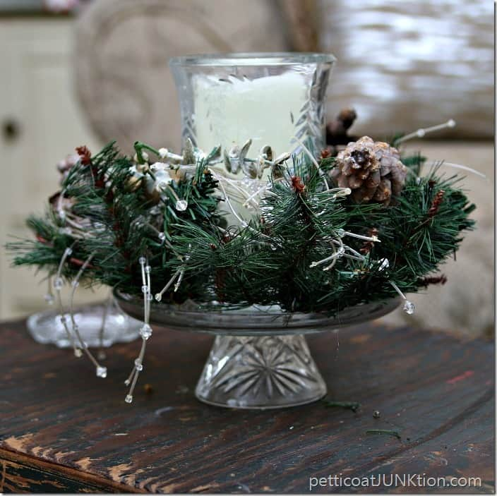 candle centerpiece Pettcoat JUnktion