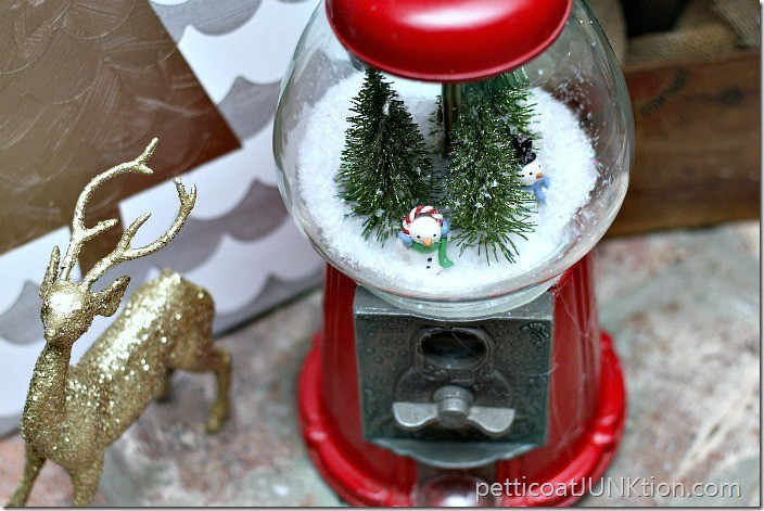 gumball machine snowglobe