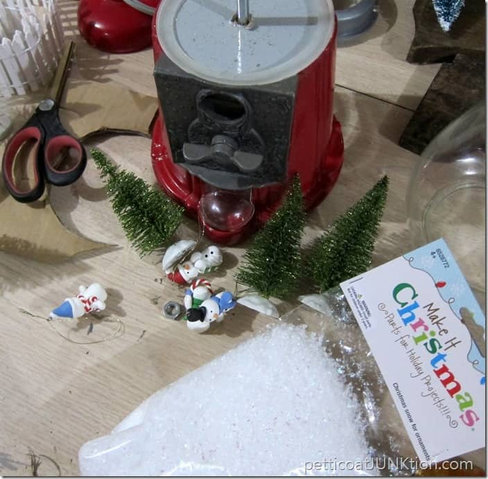 gumball machine snowglobe diy project Petticoat Junktion
