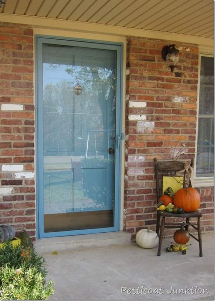 how to paint your front door and metal storm door Petticoat Junktion top 10 diy projects