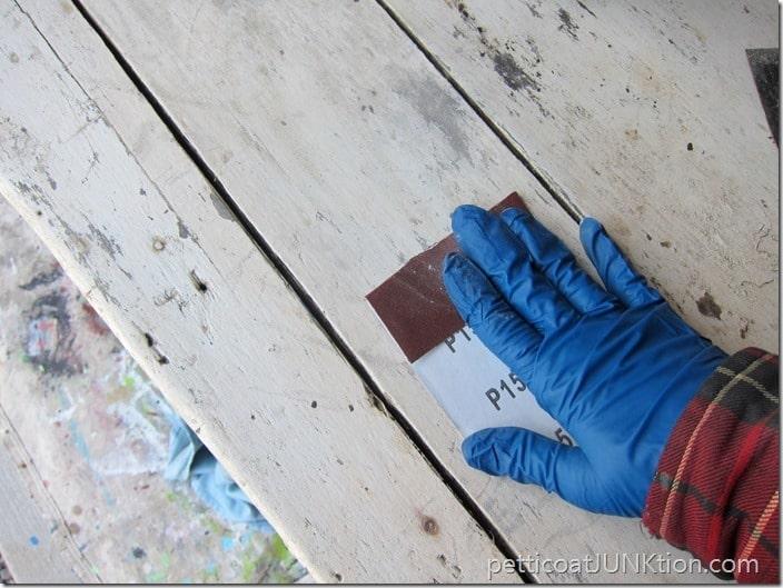 sanding furniture Petticoat Junktion