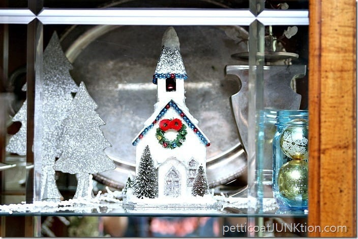 silver glitter Christmas Church Petticoat Junktion