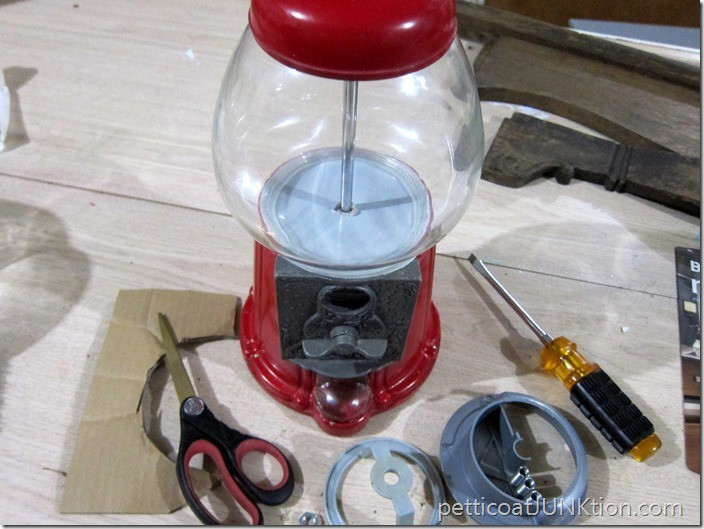 snowglobe gumball machine diy project Petticoat Junktion