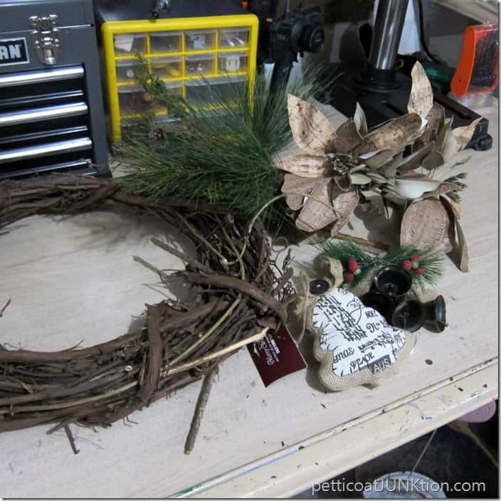 wreath project supplies Old Time Pottery
