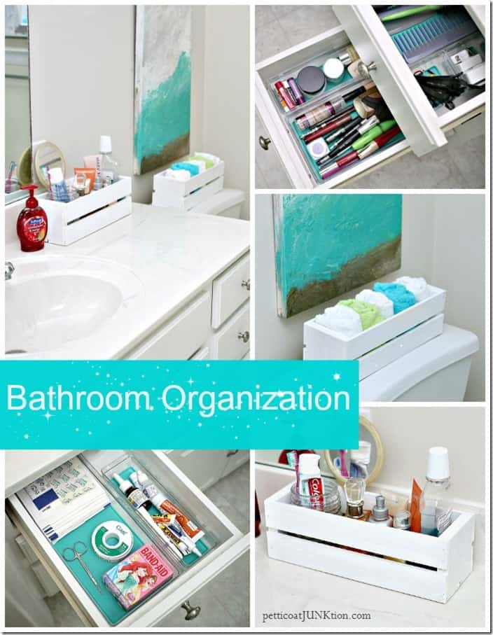 Bathroom organization tips tricks ideas for vanity drawers counters Petticoat Junktion