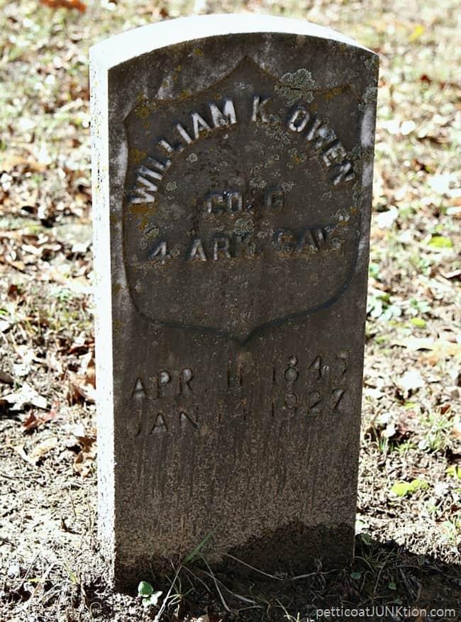 Cemetery Headstone William K. Owen