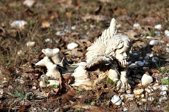 Ceramic Cherub Owen Cemetery Arkansas Petticoat Junktion photo