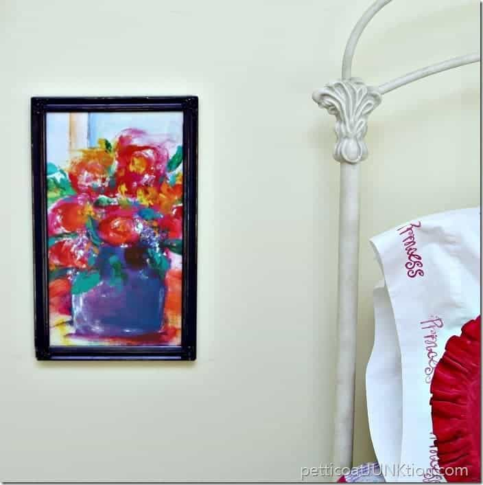 frame something funky and call it art | thrift store decor
