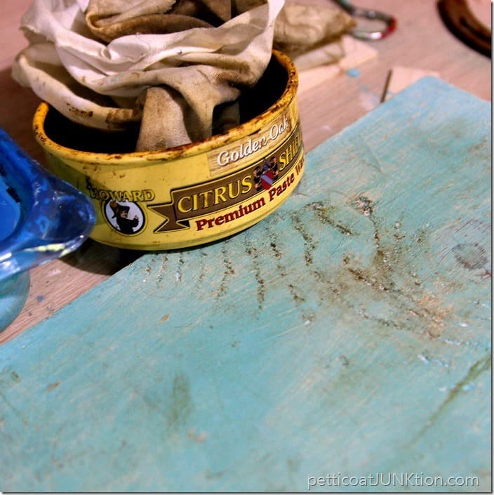 Howards Wax to age paint Petticoat Junktion