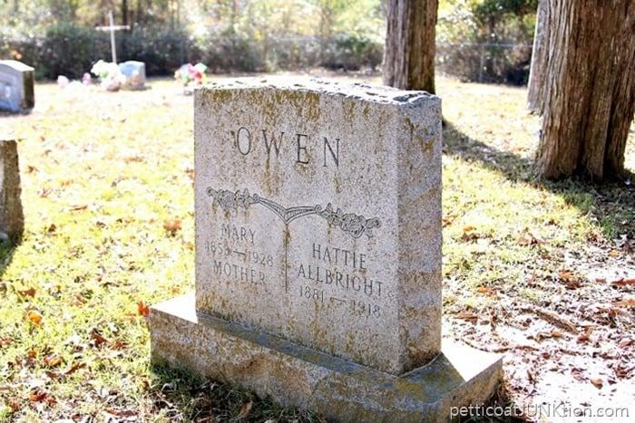 Owen Headstone Old Owen Cemetery