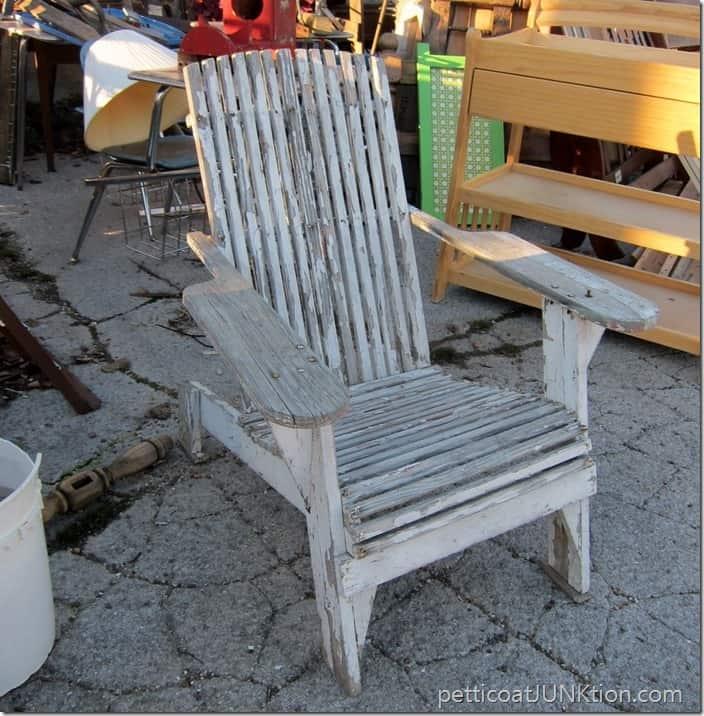 White Shabby Adirondack chair Petticoat Junktion