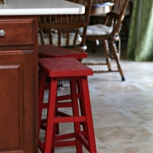 Why I Painted My Bar Stools Imperial Red