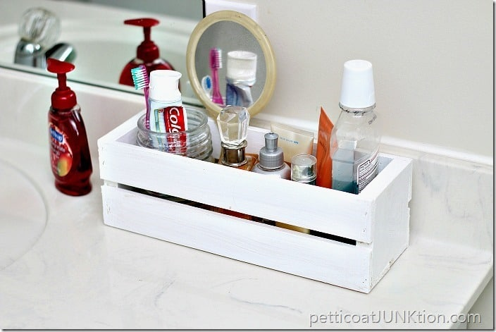 Wood Wine Crate for Bathroom Organization Petticoat Junktion