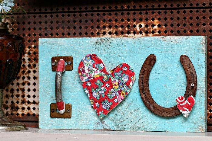 Recycled Junk Decor: Love And Luck