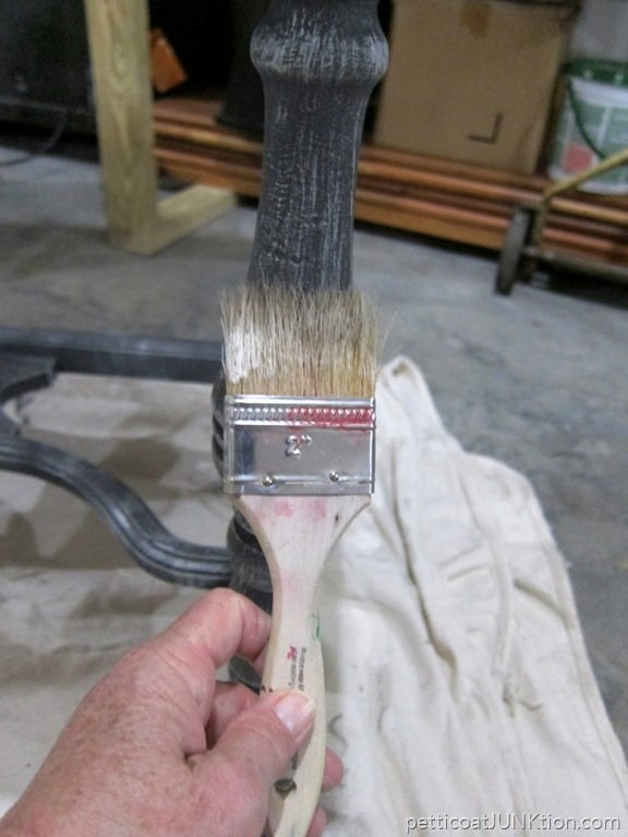 Gray Paint Finish With Details Highlighted With White Paint