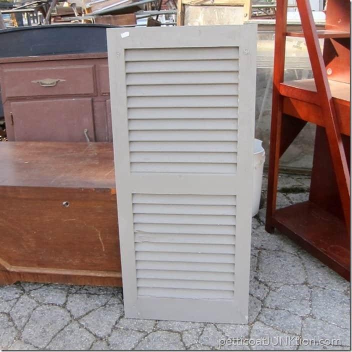 gray shutter junk find Petticoat Junktion