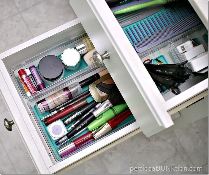 how to organize bathroom vanity drawers Petticoat Junktion 3