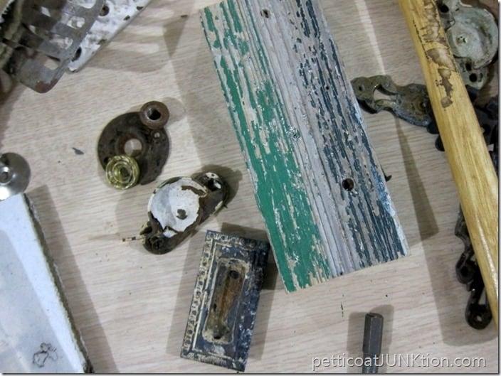 junk art assemblage project Petticoat JUnktion