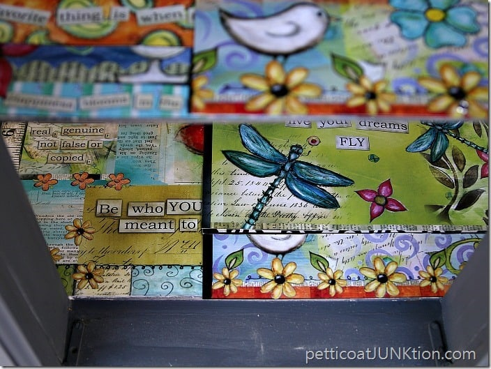 recycle idea Petticoat Junktion decorative calendar shelf liner