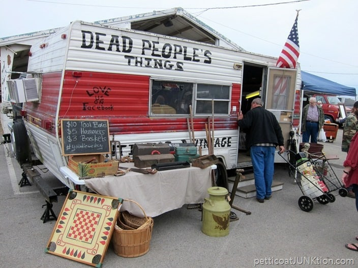 Dead Peoples Things vendor Nashville Flea Market shopping trip Petticoat Junktion