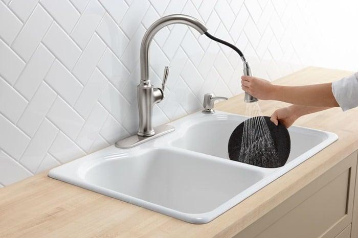 Kohler Cardale Kitchen Faucet and soap dispenser