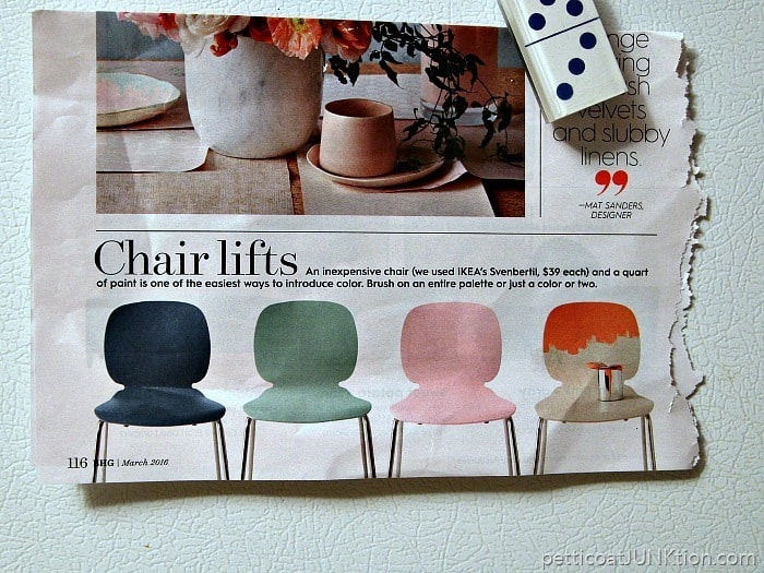 March BHG Magazine painted furniture inspiration for Petticoat Junktion project