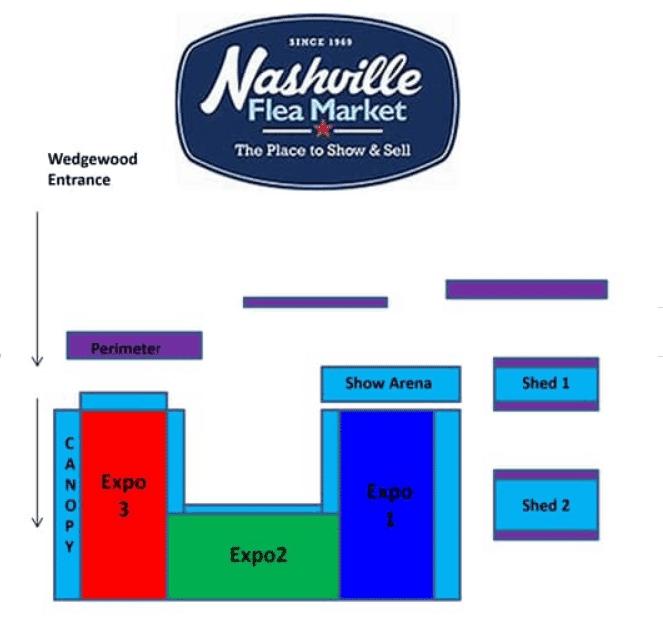 Nashville Flea Market new layout 2019