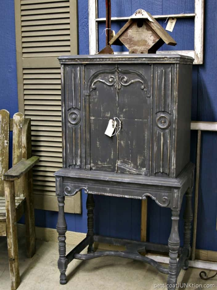 gray radio cabinet in booth space Petticoat Junktion