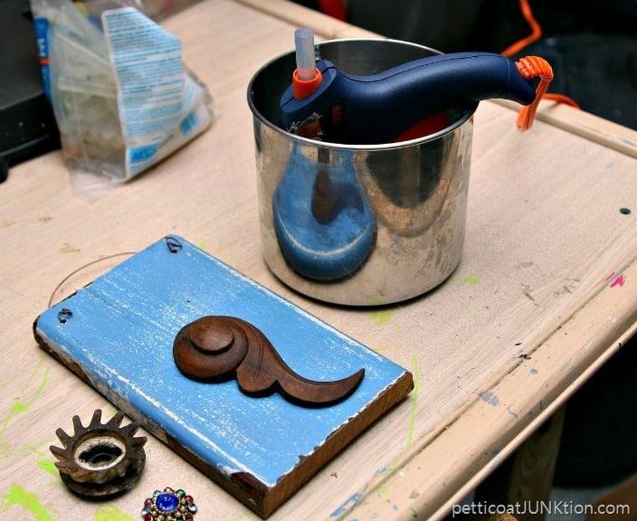 hot glue gun Petticoat Junktion Mermaid project