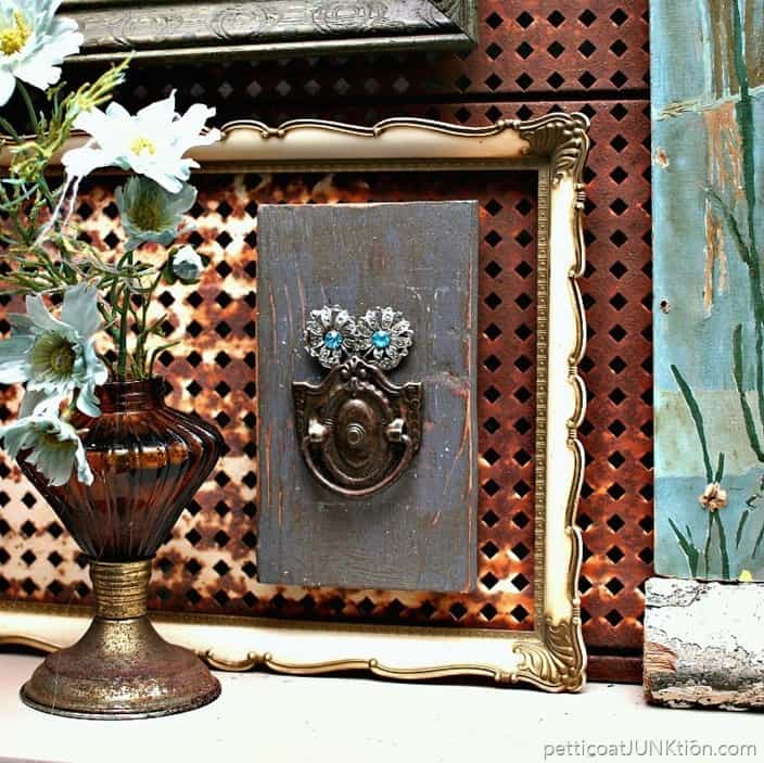 DIY Assemblage Art Owl Petticoat Junktion Things I love project