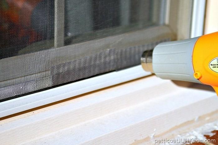 screen repairs using heat gun