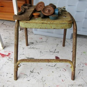 A New Favorite Rusty Metal Stool Found At The Flea Market