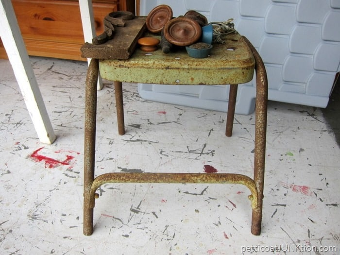 A New Favorite Rusty Stool Found At The Flea Market