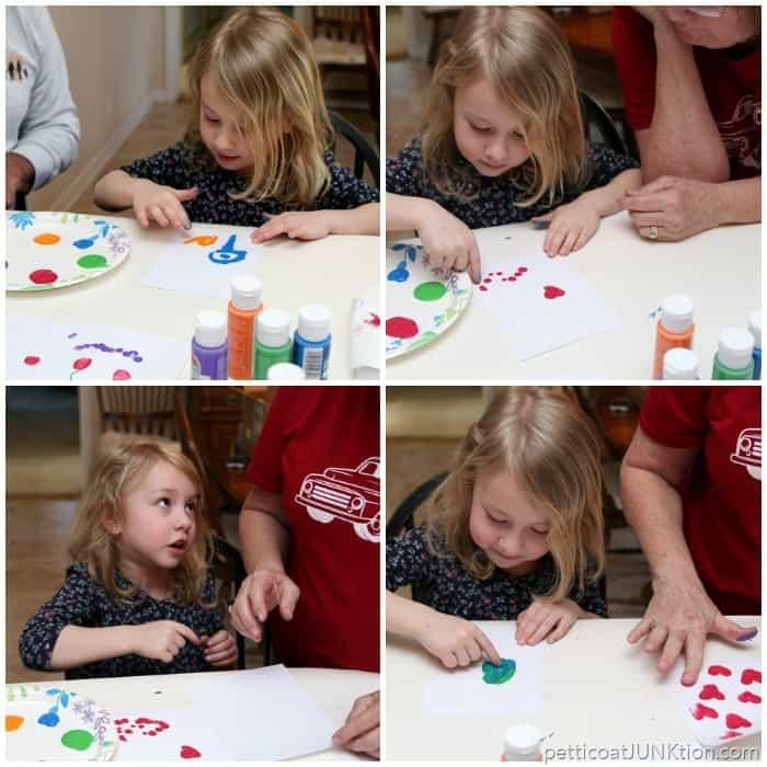 Apple Barrel Paints Finger Painting project Petticoat Junktion