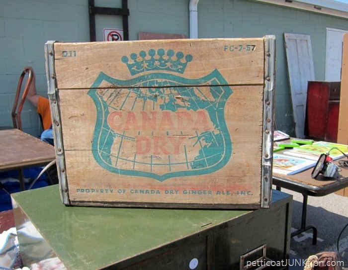 Canada Dry Wood Crate Petticoat Junktion Nashville Flea Market Shopping Trip