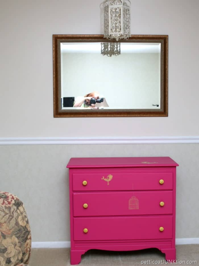 Do you want to see what our house really looks like Petticoat Junktion fuchsia dresser