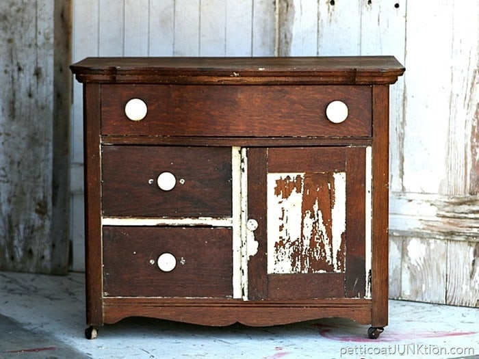 How To Love Antique Furniture Flaws And All Petticoat Junktion project before and after 1