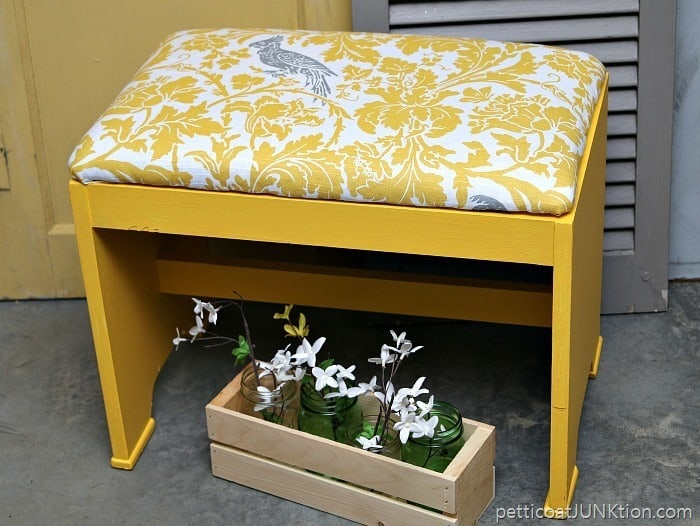 How To Makeover Vintage Furniture Using Paint And Fabric