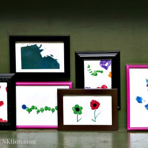 Kids DIY Art Gallery Wall Showcases Finger Painting Crafts