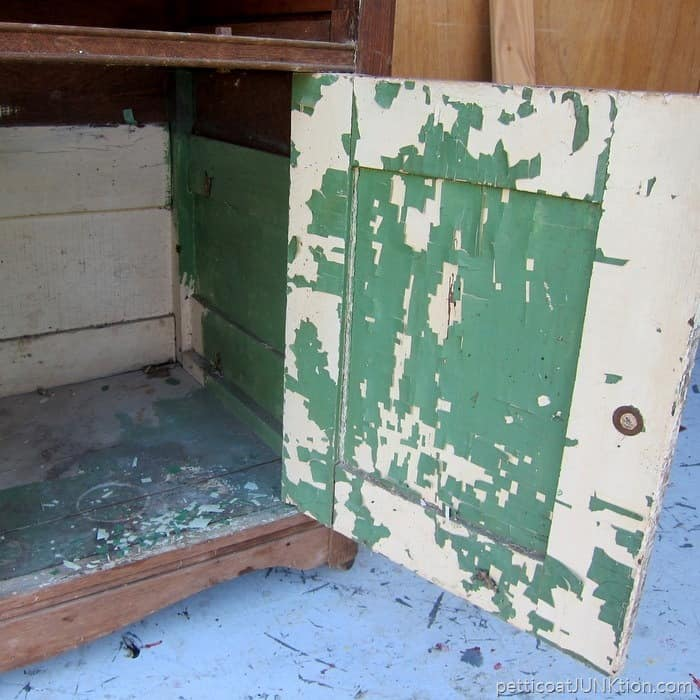 cleaning an antique dresser Petticoat Junktion project 2
