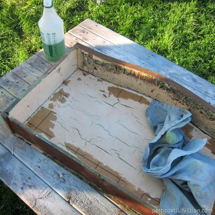 cleaning an antique dresser Petticoat Junktion project 4