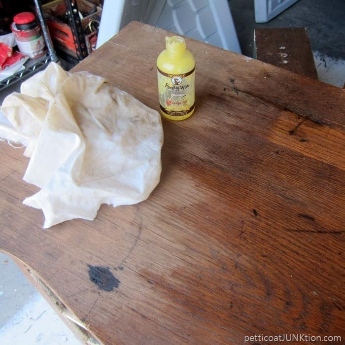 cleaning an antique dresser Petticoat Junktion project 8