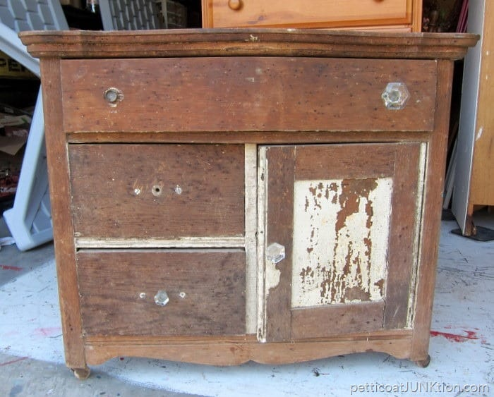 cleaning an antique dresser Petticoat Junktion project
